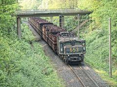 Güterzug der Firma Rheinbraun