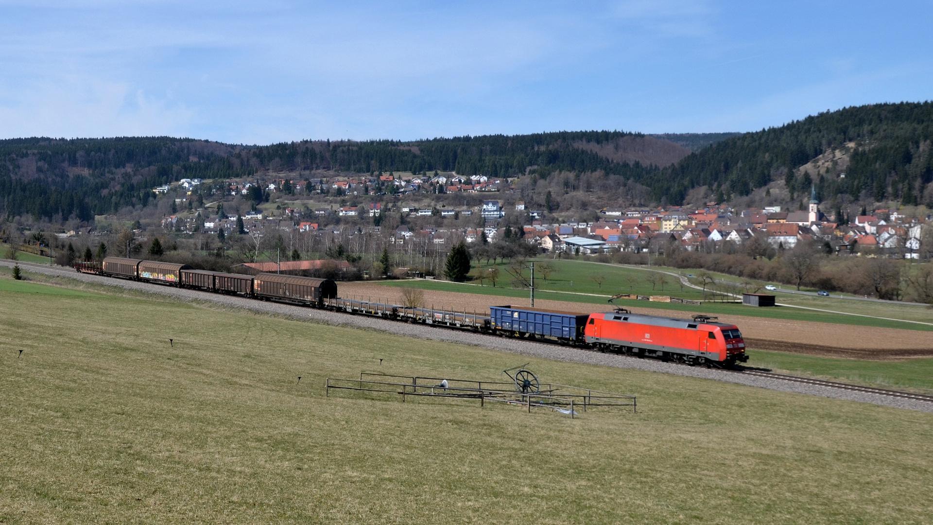 Güterzug im Donautal ...