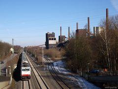 Güterzug vor Zollverein