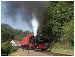 Güterzugausfahrt in Seifersdorf