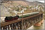 Güterzuglok   41 018 überquert Doppelstockbrücke
