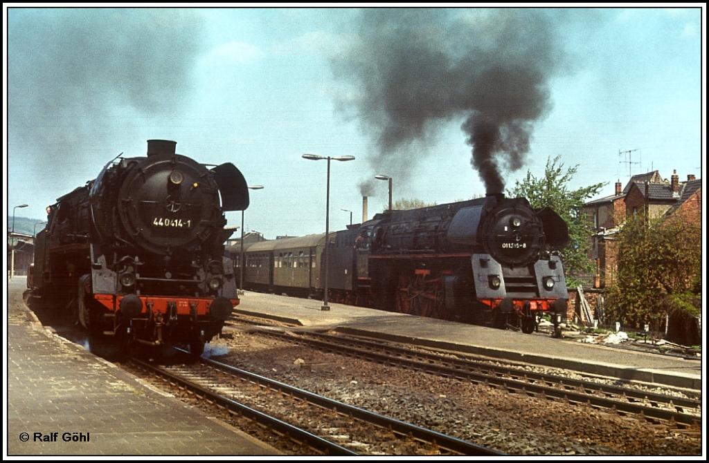 Güterzugüberholung der Saalfelder Kollegen in Jena- Saalbahnhof