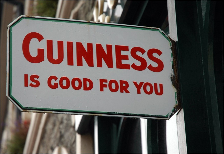 Guinness is good for you ...