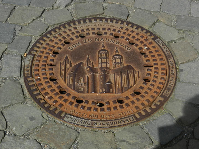 Gullideckel in Naumburg