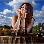 Gullivers Tochter war ständig nass und leerte beim Mahle so manches Fass ;-)