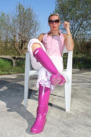 Gummistiefel - Hunter - Pink Foto & Bild | archiv - kritik