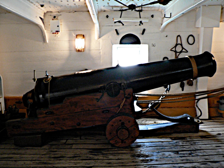 Gun Deck, HMS Warrior, Portsmouth Historical Dockyard