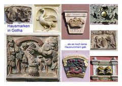 Gut erhaltene Hausmarken in Gotha