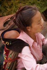 gut verpackt hat man  es warm und gemütlich, laos 2010