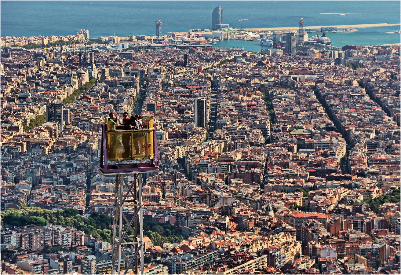 Gute Aussicht für Mutige über Barcelona