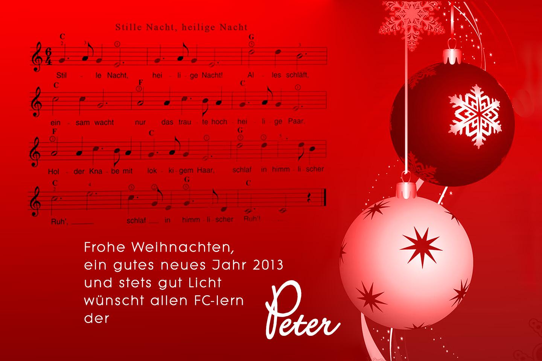 Gute Weihnachts- und Neujahrswünsche ...