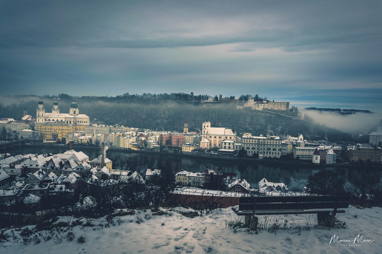 Guten Morgen Passau Foto Bild City Nature Snow Bilder