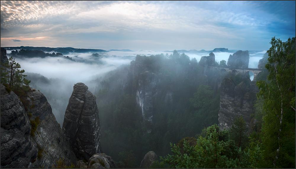 Guten Morgen Sächsische Schweiz Foto Bild Deutschland