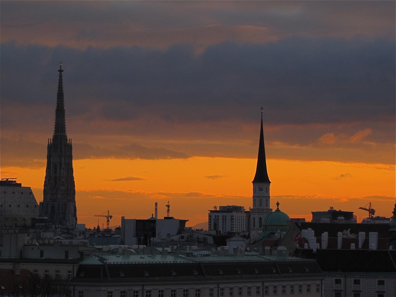 Guten Morgen Wien Am Montag Foto Bild Architektur