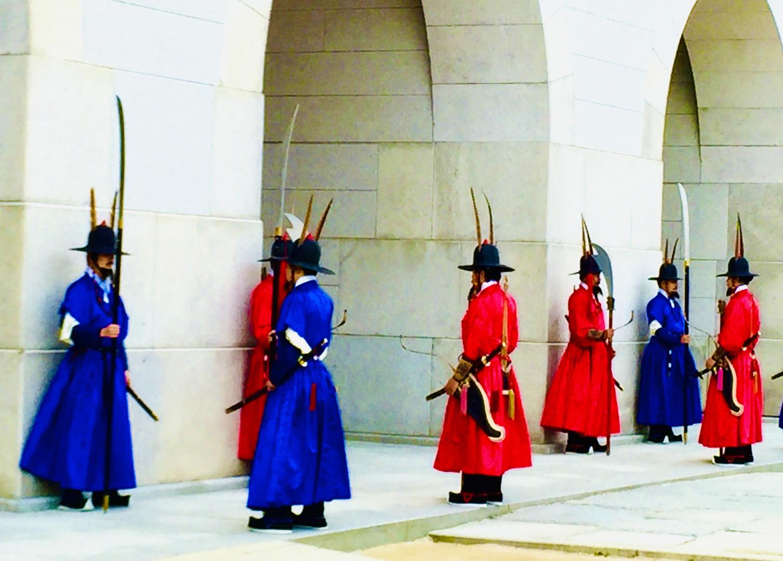Gyeongbokgung palace changing guard