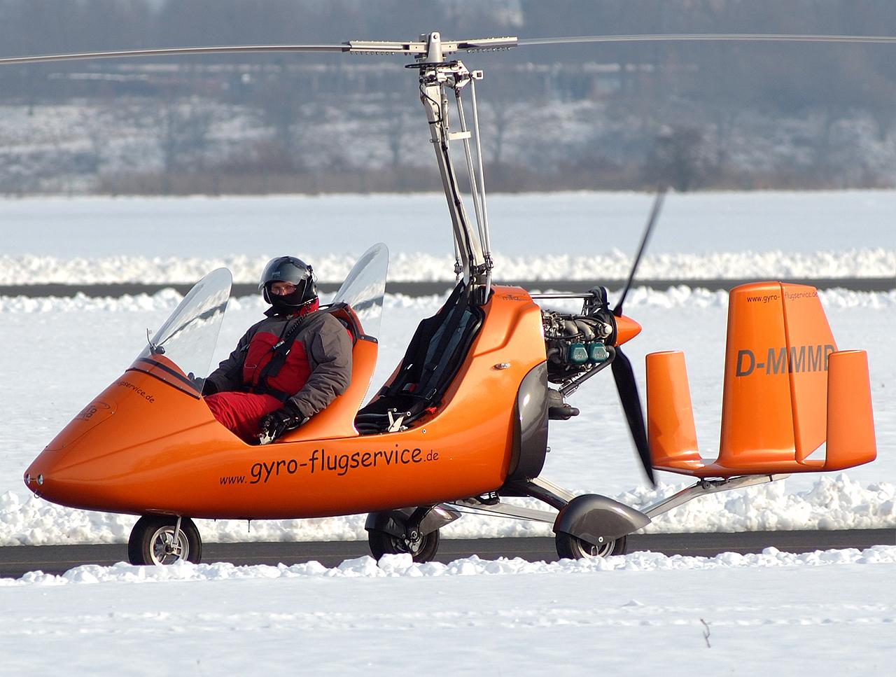 Gyrocopter auch im Winter-wohl eisig kalt.