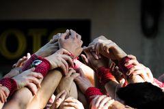 Hände der  Castellers