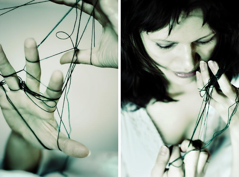Hände verknotet