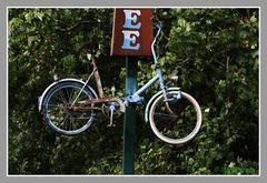 Hängende Fahrrad