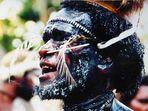 Häuptling vom Stamm der Dani im Baliemtal in Papua