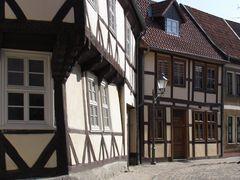 Häuser in der Schmiedestraße der alten Hansestadt Salzwedel