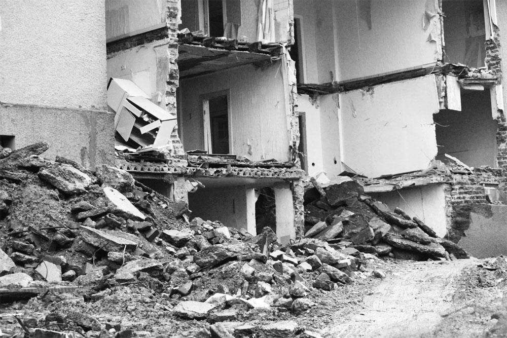 Häuser in Trümmern