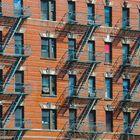 Häuserfassade in New York