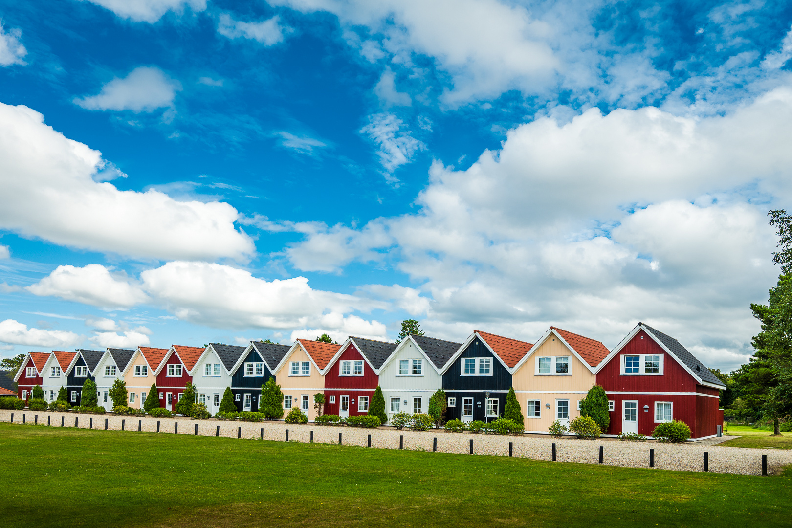 Häuserfront in Dänemark