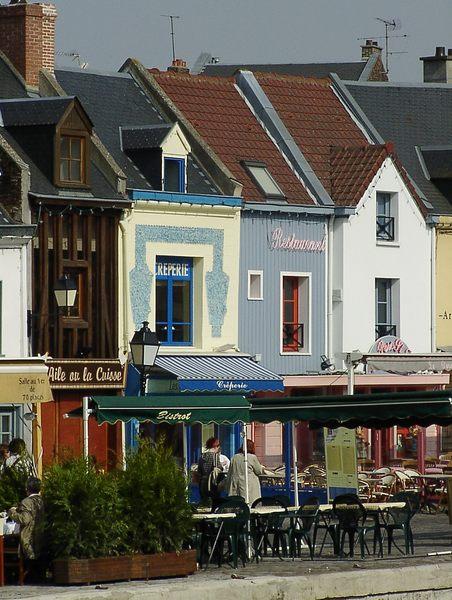 Häuserfront in der Altstadt von Amien