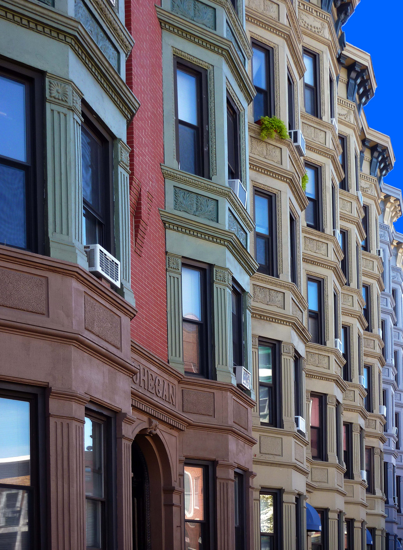 Häuserfront in Hoboken