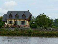 Häuserstil der Normandie