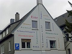 Häuserwand in Brilon