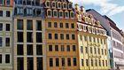 Häuserzeile in Dresden