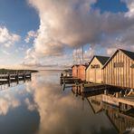 Hafen Althagen zum Sonnenaufgang, 09/2020