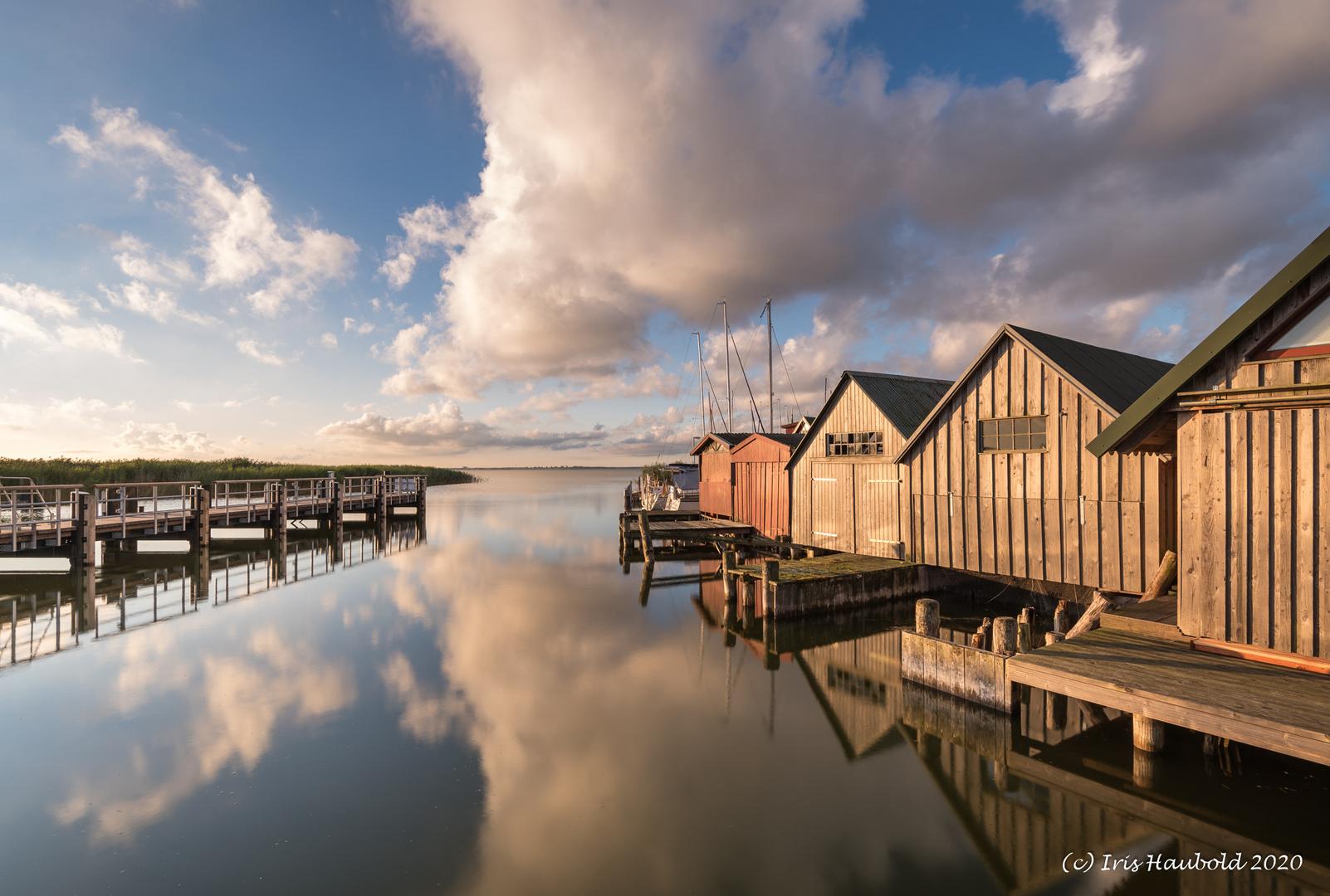 Hafen Althagen zum Sonnenaufgang