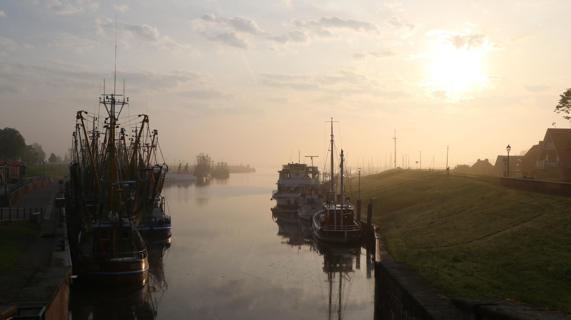 Hafen am Morgen