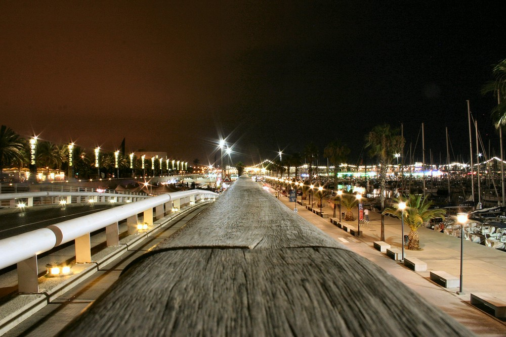 Hafen Barcelona bei Nacht - Erstversuch