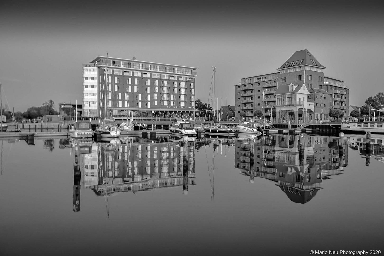 Hafen Barth im Sommer 2020
