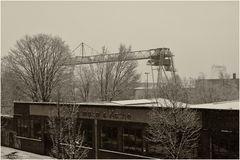Hafen bei Schnee
