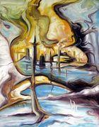 Hafen - Devas - Öl auf Leinwand - 62 x 81 cm - von Alexander Retzdorff