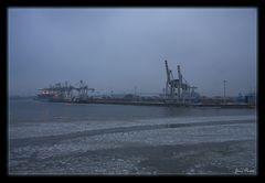 Hafen Hamburg im Februar 2