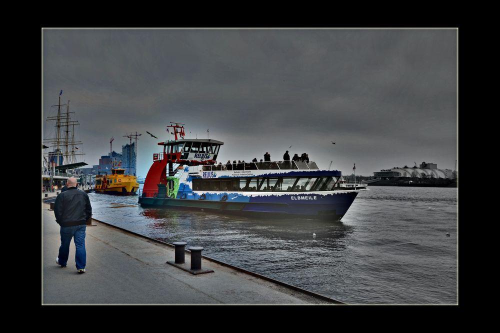 Hafen Hamburg im März