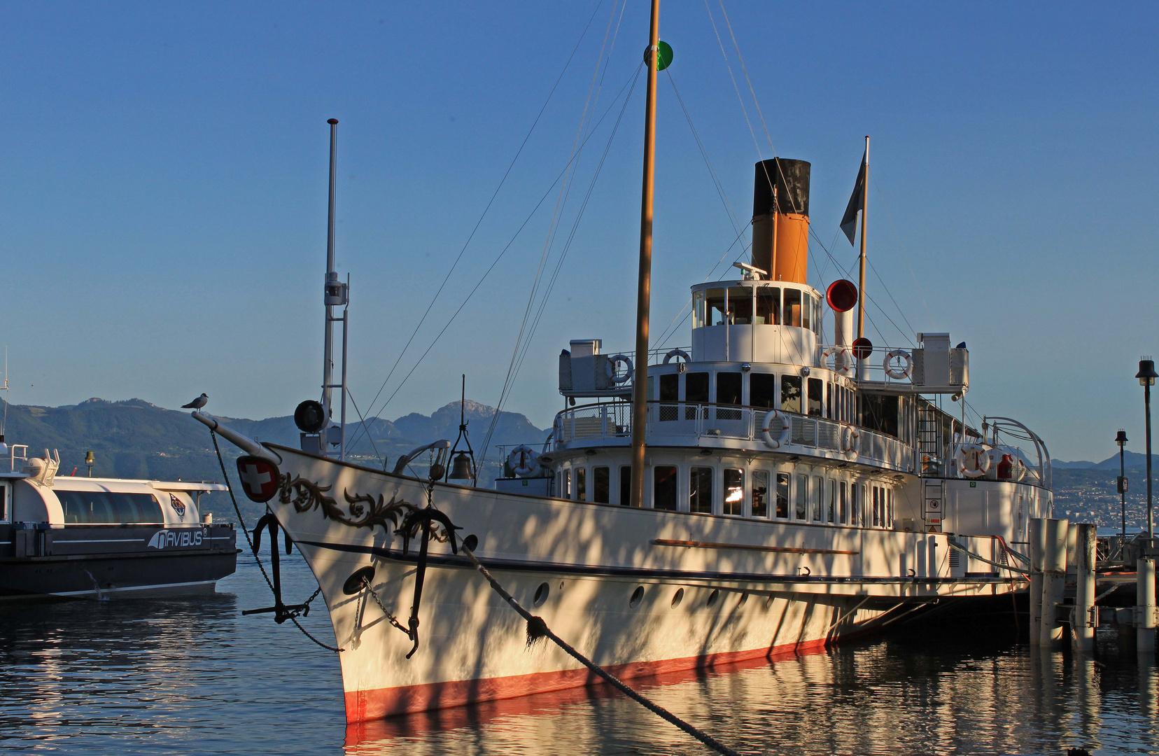 Hafen Ouchy-Lausanne - einsteigen bitte
