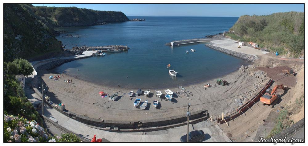 Hafen Porto Formoso (Sao Miguel, Azoren)