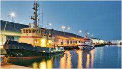 Hafen Skagen am Abend
