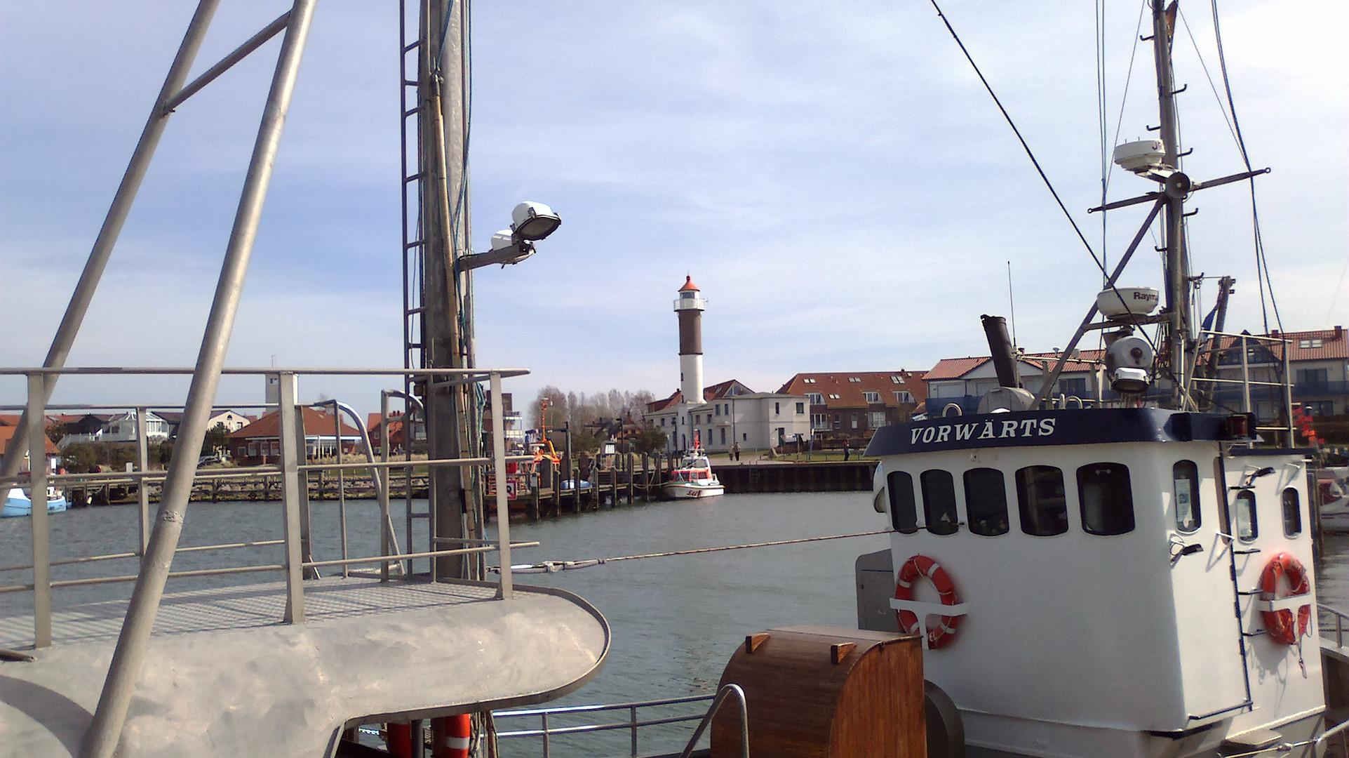 Hafen Timmendorf in der Mittagssonne