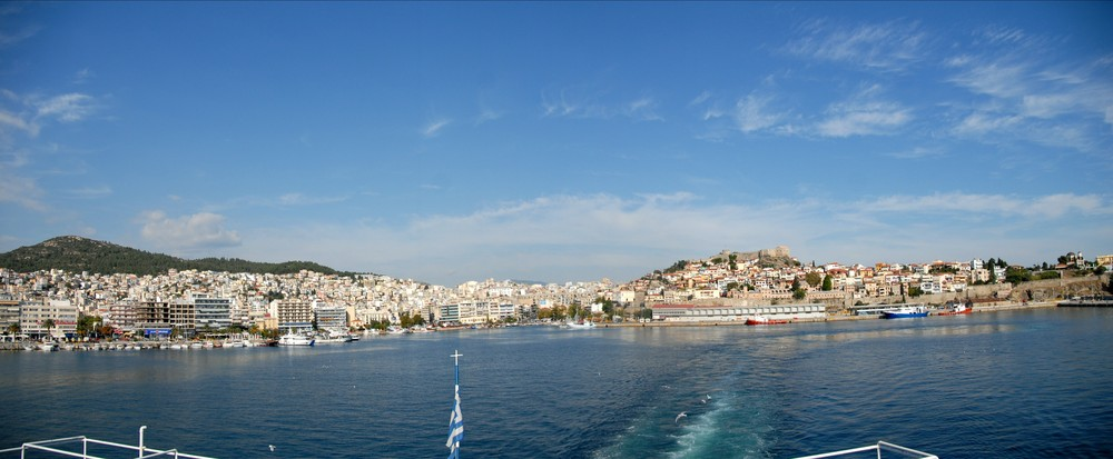 Hafen von Kavala in Griechenland