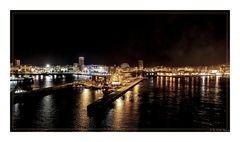 Hafen von Las Palmas bei Nacht