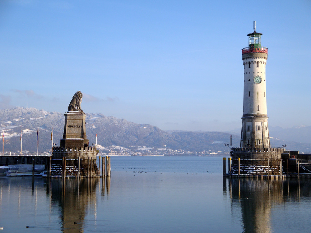 Hafen Von Lindau Im Winter Foto Bild Deutschland Europe Bayern