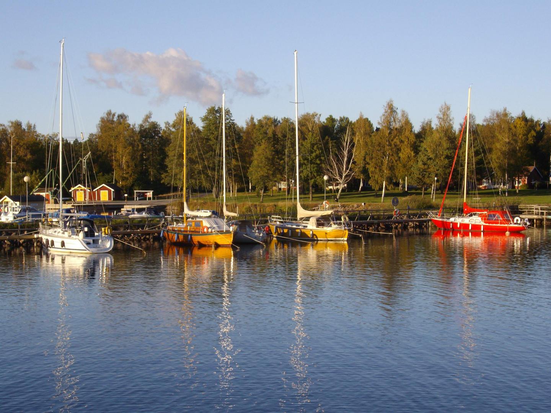 Hafen von Sjötorp (Götakanal in Schweden)